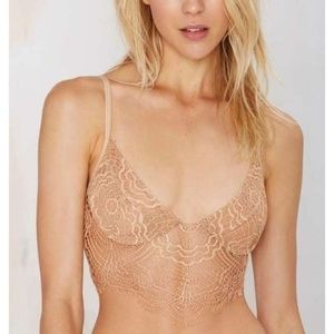 For Love and Lemons Bat for Lashes Bralette Nude L